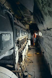 葡萄酒电力机车内部 免版税库存照片