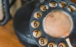 葡萄酒电名人转台式电话 免版税库存照片