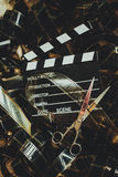 葡萄酒电影背景概念编辑和决赛裁减 库存照片
