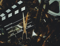 葡萄酒电影背景概念编辑和决赛裁减 免版税图库摄影