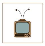 葡萄酒电视机 免版税库存图片