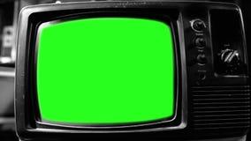 葡萄酒电视绿色屏幕 20世纪80年代的美学 黑白口气 徒升 影视素材