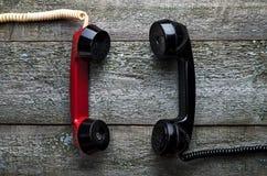 葡萄酒电话机 免版税库存照片