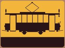 葡萄酒电车标志。 免版税图库摄影