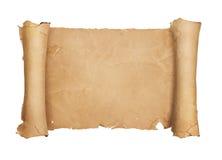 葡萄酒白纸纸卷 免版税库存照片