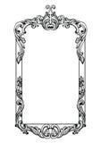 葡萄酒皇家巴洛克式的镜子框架 传染媒介法国豪华富有的复杂装饰品 维多利亚女王时代的皇家样式装饰 库存图片