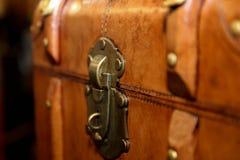 葡萄酒皮革手提箱 大和美妙的皮革箱子 旅行箱子 葡萄酒皮革手提箱 免版税库存图片