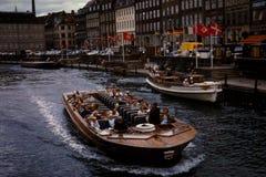 葡萄酒看看游览小船在丹麦大约1961年 免版税库存图片