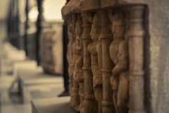 葡萄酒石雕塑 免版税库存照片