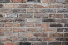 葡萄酒砖墙,红色石头老纹理阻拦特写镜头 免版税库存照片