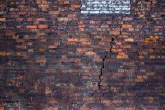 葡萄酒砖墙,都市背景,红色石纹理 图库摄影