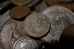 葡萄酒硬币 免版税库存照片