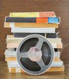 葡萄酒磁性录音磁带,开盘式的类型 免版税库存照片
