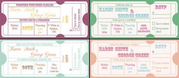 葡萄酒票邀请 免版税库存照片