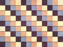 葡萄酒称呼了方格的样式用无言颜色黄色蓝色紫罗兰色桔子 向量例证