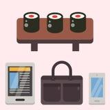 葡萄酒称呼了设计行家象传染媒介标志和标志模板小配件元素和其他事例证 库存照片