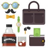 葡萄酒称呼了设计行家象传染媒介标志和标志模板小配件元素和其他事例证 免版税库存图片