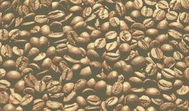 葡萄酒称呼了Roasted咖啡豆背景的图象 库存照片