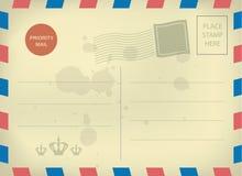 葡萄酒空白的明信片模板 免版税图库摄影