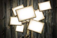 葡萄酒空白的照片框架 免版税图库摄影