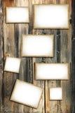 葡萄酒空白的照片框架 库存图片