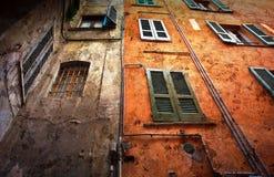 葡萄酒窗口背景意大利 免版税库存照片