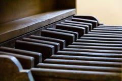 葡萄酒管风琴的Pedalboard 免版税库存照片