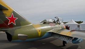 葡萄酒米格-15喷气式歼击机 图库摄影