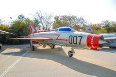 葡萄酒米高扬古列维奇米格-21飞机在以色列人空军队博物馆显示了 库存图片