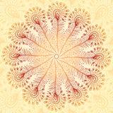 葡萄酒米黄抽象孔雀用羽毛装饰背景 库存图片