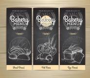 葡萄酒粉笔画面包店菜单设计 库存照片