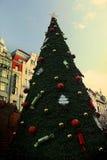 葡萄酒糖果圣诞树 免版税库存图片
