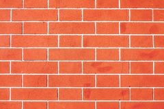 葡萄酒红砖老墙壁纹理 免版税图库摄影