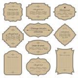 葡萄酒纸板框架和标号组 免版税图库摄影
