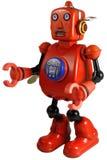 葡萄酒罐子缠绕机器人玩具 免版税库存图片