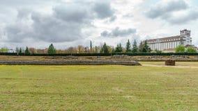 葡萄酒罗马马戏,梅里达的废墟 免版税库存图片