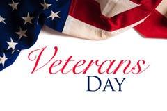 葡萄酒美国国旗为退伍军人日 免版税库存照片