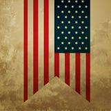 葡萄酒美国国旗 库存图片