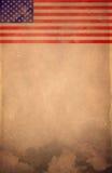 葡萄酒美国旗子海报-卡片-模板 免版税库存照片
