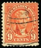 葡萄酒美国杰斐逊总统邮票1922年 免版税库存图片