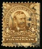 葡萄酒美国格兰特总统邮票1902年 免版税库存图片