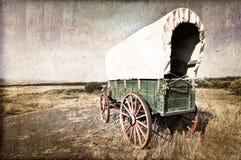 葡萄酒美国西部无盖货车 图库摄影