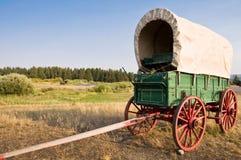 葡萄酒美国西部无盖货车 免版税库存照片