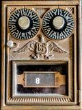 葡萄酒美国邮政专用信箱 图库摄影