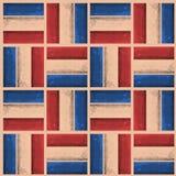 葡萄酒美国水彩样式时尚纹理条纹立方体几何样式设计传染媒介 免版税库存图片