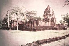 葡萄酒老宫殿在泰国 免版税库存图片