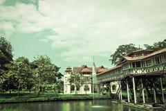 葡萄酒老宫殿在泰国 库存图片