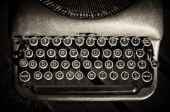 葡萄酒老打字机 免版税图库摄影