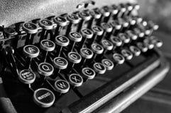 葡萄酒老打字机 库存照片
