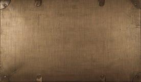 葡萄酒老棕色盒 库存照片